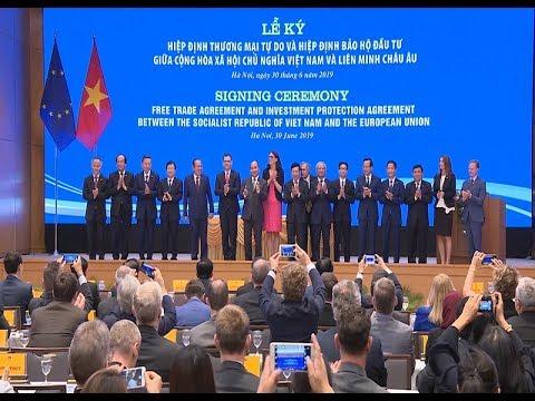 Hiệp định thương mại tự do và Hiệp định bảo hộ đầu tư giữa Việt Nam và Liên minh Châu Âu được ký kết tại Hà Nội