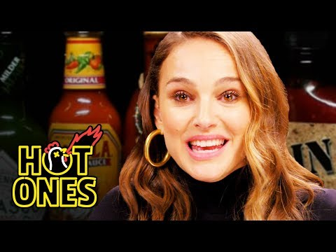 Natalie Portman Attempts Hot Ones Spicy Wing