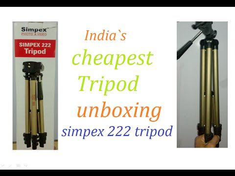 Simpex 222 Unboxing L Cheapest Tripod India L Hindil