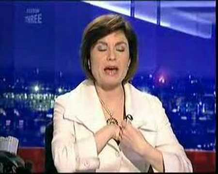 BBC news Jane Hill itchy t!t blooper