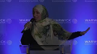 كلمة الناشطة الحائزة على جائزة نوبل للسلام توكل كرمان في الجلسة الافتتاحية لقمة واريك الاقتصادية العالمية 2018 - برمنجهام/بريطانيا
