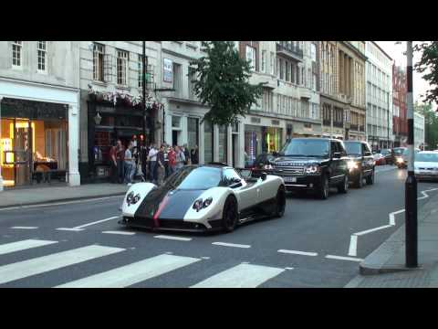 Cinque - This is a video of one of the World's most ultimate hypercars; the Pagani Zonda Cinque Roadster; it is shown here in some driving scenes, revving furiously, ...