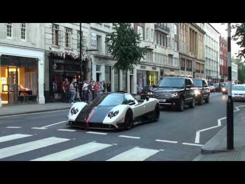 pagani zonda cinque roadster - giri furiosi e forti accelerazioni