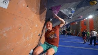 Peter Is Wrestling With A New Problem! by Eric Karlsson Bouldering