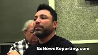 Oscar De La Hoya: Who Hits Harder Manny Pacquiao or Floyd Mayweather - EsNews