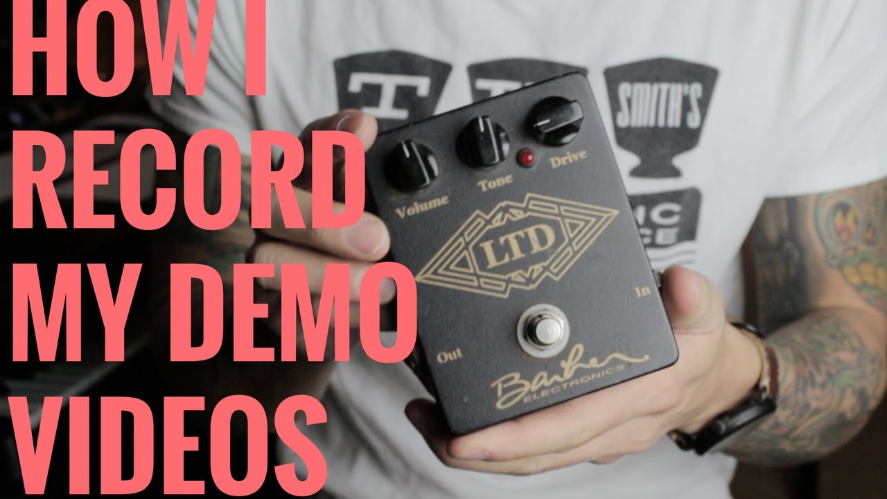 How I Record My Demo Videos – Rig Rundown – RJ Ronquillo's Guitarama! Guitar Vlog