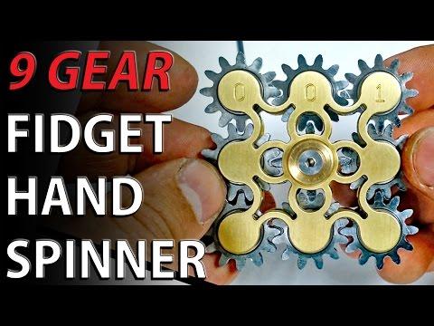 9 GEAR Hand spinner fidget toy - Steampunk fidget machine
