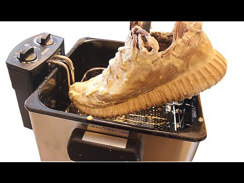 WATCH: Bro Deep Fries His Yeezy Boosts!