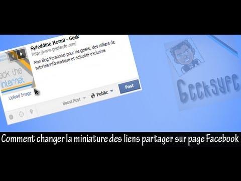 comment modifier la miniature sur facebook