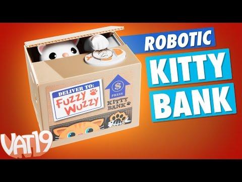 The Fuzzy Wuzzy Kitty Cat Bank (видео)