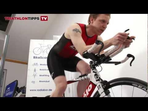 Optimale Sitzposition auf dem Triathlonrad einstellen