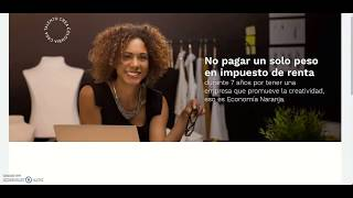 ABC de la exención de renta para empresas de la Economía Naranja