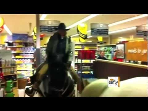 The Early Show - Cowboys arrested for riding horse in Safeway