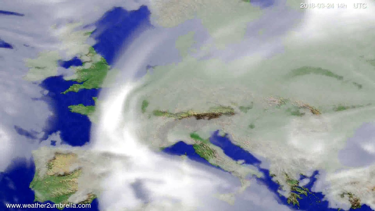 Cloud forecast Europe 2018-03-20