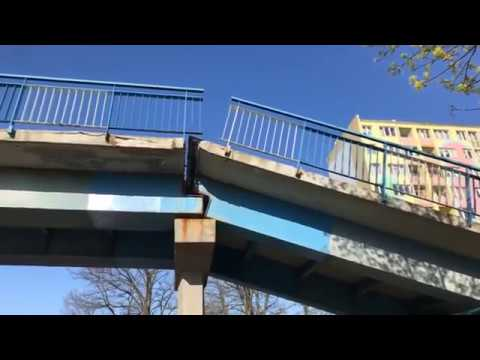 Wideo: Zawaliła się kładka dla pieszych w Lubinie