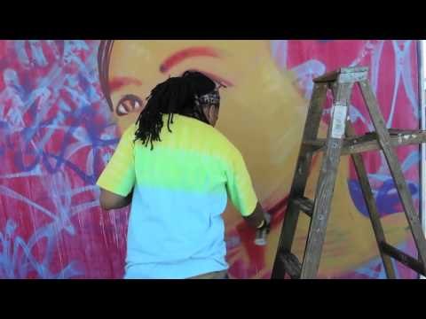 ExhibitBE artist Brandan Odums at New Orleans Jazz Fest 2015
