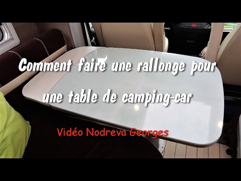 Comment faire une rallonge de table de camping car