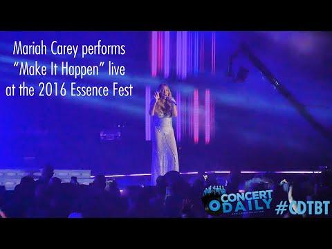 """Mariah Carey performs """"Make It Happen"""" live; 2016 Essence Fest #CDTBT"""