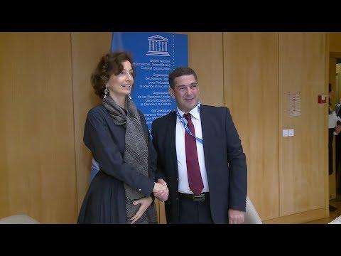 السيد أمزازي يتباحث بباريس مع المديرة العام لليونسكو