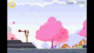 Angry Birds Seasons Hogs & Kisses 3 Star Walkthrough Level 8
