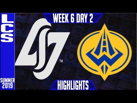 CLG Vs GGS Highlights | LCS Summer 2019 Week 6 Day 2 | Counter Logic Gaming Vs Golden Guardians