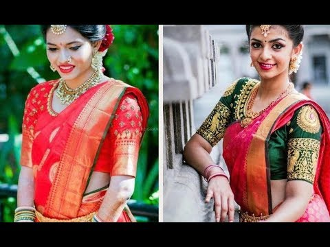 Video Royal Red Kanchipuram Pattu Sarees for Brides || Contrast and Red Blouse - PART 2 download in MP3, 3GP, MP4, WEBM, AVI, FLV January 2017