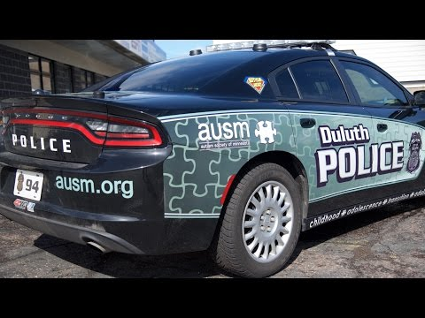 Learn About the Duluth Police Department Autism Awareness Squad Car