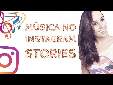 Status de música - Como colocar MÚSICA de fundo no INSTAGRAM STORIES - Por Ana Tex