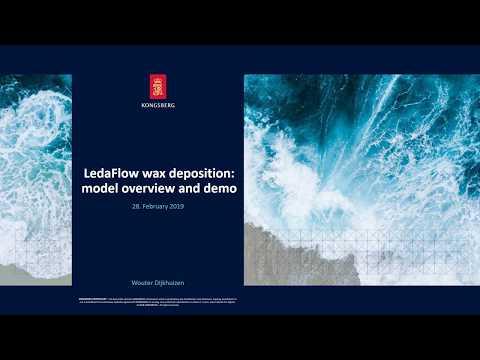 Wax deposition modelling in LedaFlow