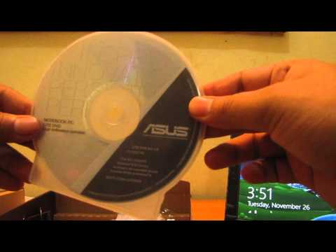 Asus 1015E Notebook Unboxing (*Drivers for Windows 7)