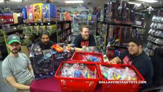 DVT Talks 07/12/17 LIVE - Podcast and GIVE-AWAYDallas Vintage Toys is a vintage toy store in Dallas Texas specializing in toys from the 70's, 80's ad 90's! The biggest genre of toys in the store is STAR WARS of which every generation from 1977-2015 is available and in stock! You have to stop by and see it for yourself at 12052 Forestgate Dr, Dallas TX 75243, Phone 214-827-7060, or visit them online at www.dallasvintagetoys.com - WE BUY TOYS!