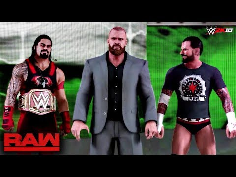 WWE 2K18 Custom Story - Roman Reigns Joins The Authority & Confronts Brock Lesnar Raw 2017 - Part 13