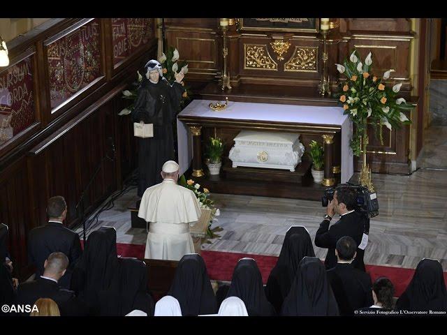 Papa Francisco visitou o Santuário da Divina Misericórdia (Cracóvia)