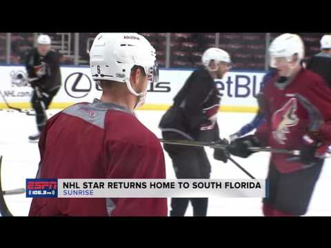 Video: Jakob Chychrun returns home to South Florida