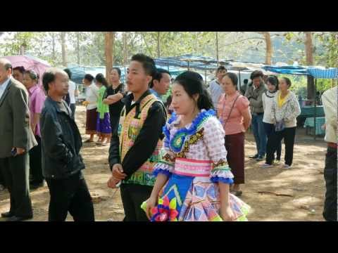 Mountain tribes (Hmong, Lao Loum, Khamu) and a Hmong-festival in Laos