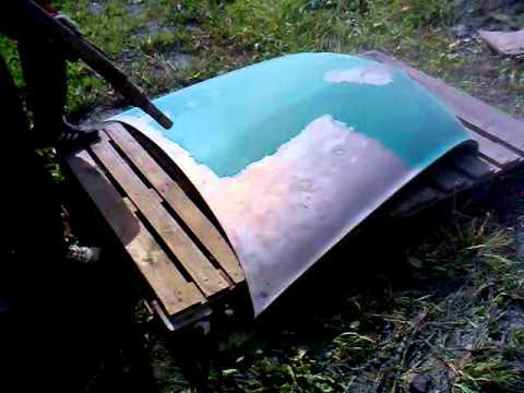 очистка лодок от старой краски