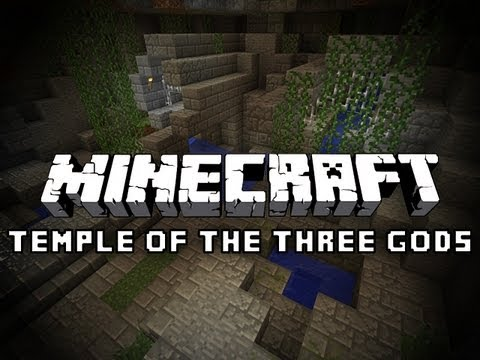 Minecraft: The Temple of The Three Gods with Pete #1 LONGEST STAIRCASE EVER