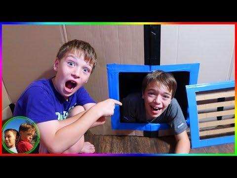 Box Fort Prison! Underground Maze and Escape Room! / Steel Kids