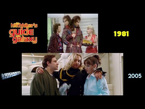 The Hitchhiker's Guide To The Galaxy (1981/2005): Side-by-Side Comparison
