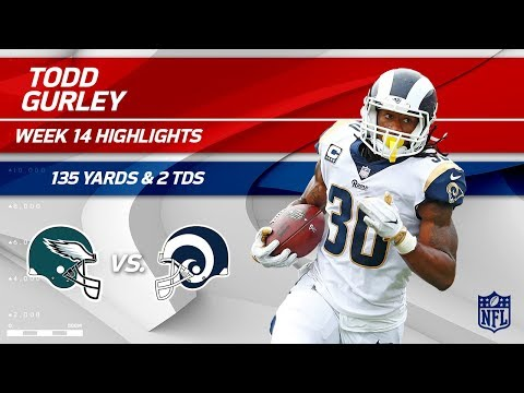 Video: Todd Gurley's 2 TDs & 135 Total Yards vs. Philly! | Eagles vs. Rams | Wk 14 Player Highlights