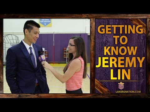 jeremy - Jeremy Lin is interviewed by Lakers Nation reporter Serena Winters after his Lakers introductory press conference. They talk crazy fans (like the Craigslist ad offering a room), his infamous...