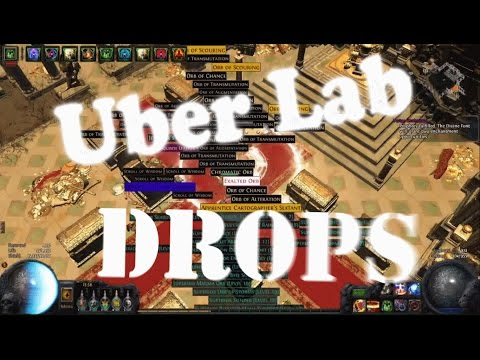 Path of Exile: Massive Uber lab drops