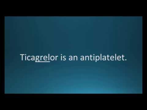 How to pronounce ticagrelor (Brilinta) (Memorizing Pharmacology Flashcard)