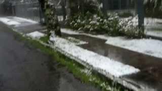 Fiz este vídeo no momento em que eu estava indo trabalhar. A sensação de ver a neve de perto foi muito Boa!!! Pois quem sabe...