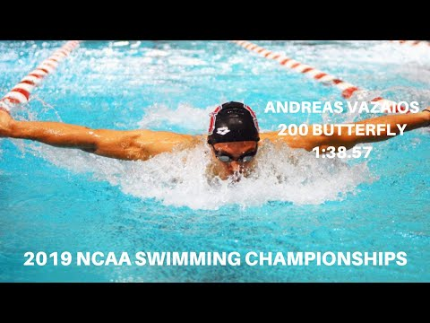 Andreas Vazaios Wins 200 Fly