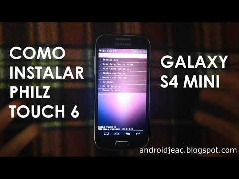 INSTALAR PHILZ TOUCH 6 Galaxy S4 mini