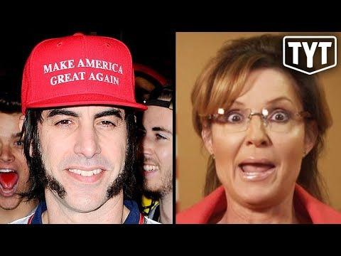 Sacha Baron Cohen PRANKS Sarah Palin