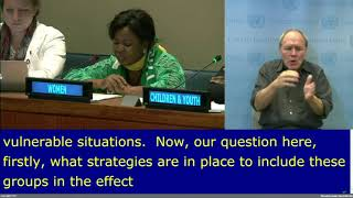 Louisa Eikomum's intervention at the VNR 9 at the HLPF, 2017:  UN Web TV - http://webtv.un.org