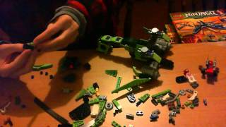 Lego NinjaGo 2012 Rattle Copter 9443 Time Lapse Building