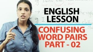 English Grammar Lessons - English Grammar Lesson : Commonly confused word pairs part 02 | Free Engli